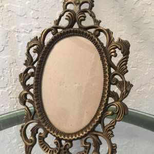 Small Ornate Victorian Style Metal Standing Frame